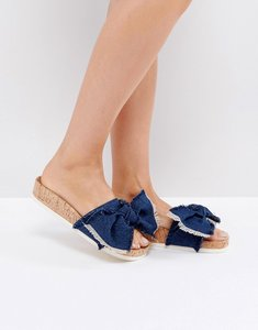 Read more about Miss kg denim blue flat sandals - blue