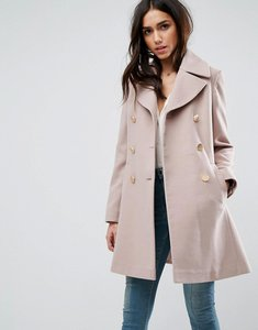Read more about Asos swing coat with military style buttons - mink