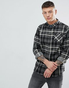 Read more about Brave soul long sleeve brushed check shirt - black