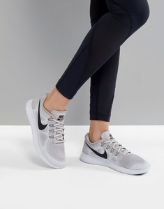 Read more about Nike running free run trainers in silver - moon particle black-