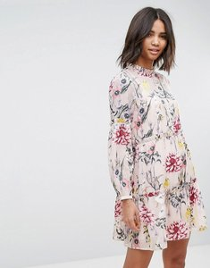 Read more about Miss selfridge floral tiered smock dress - print