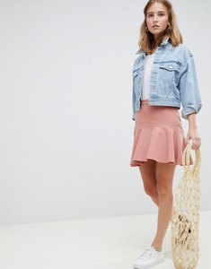 Read more about Asos design tailored fit and flare mini skirt - camel