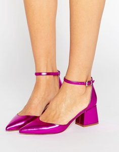 Read more about Asos starling pointed heels - pink metallic