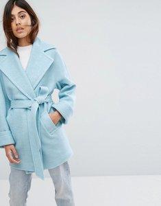 Read more about Helene berman wool blend yummy belted jacket - pale blue