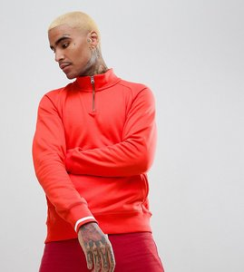 Read more about Nike sb everett half-zip sweat in red exclusive to asos - red