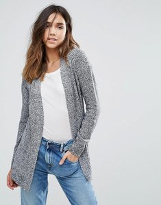 Read more about Brave soul twisted knit cardigan - black white twist