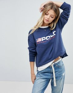 Read more about Polo ralph lauren polo flag sweat - blue
