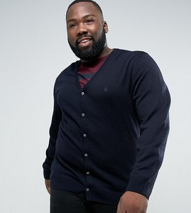 Read more about French connection plus man cardigan - navy