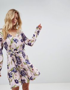 Read more about Minkpink floral printed wrap dress - multi