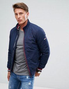 Read more about Tommy hilfiger denim insulated bomber jacket icon stripe trim in navy - navy