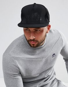 Read more about Ellesse snapback cap with tonal logo in black - black