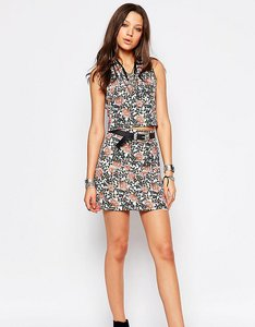 Read more about Glamorous tall tailored a-line mini skirt in floral print - multi