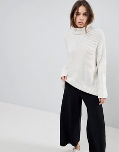 Read more about Weekday turtle neck fluffy knit jumper - cream