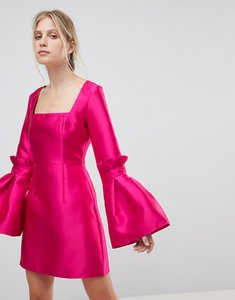 Read more about Asos extreme sleeve mini dress with square neck - hot pink