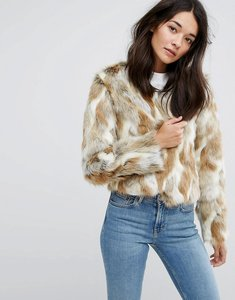 Read more about Urban code faux fur patchwork coat - multi