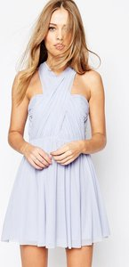 Read more about Asos wedding multiway mesh mini dress - ice blue