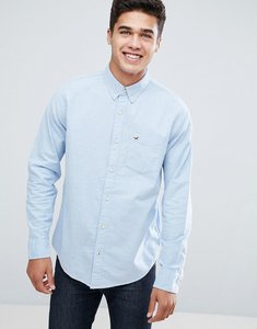 Read more about Hollister oxford shirt buttondown slim fit in blue - samoset