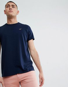 Read more about Hollister core crew neck t-shirt seagull logo in navy - navy