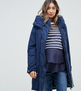 Read more about Mamalicious padded parka jacket with carry me functionality - navy blazer