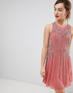 Read more about Frock frill heavily embellished swing dress - pink