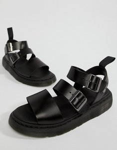 Read more about Dr martens gryphon strap sandals in black - black