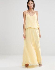 Read more about Vila cami overlay maxi bridesmaid dress - pale banana