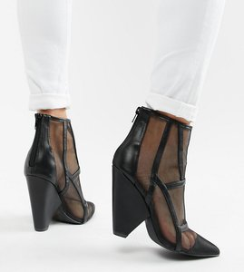 Read more about Qupid heeled ankle boots - black