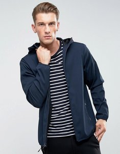 Read more about Abercrombie fitch hooded jacket lightweight nylon in navy - navy
