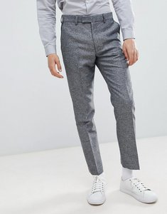 Read more about French connection slim fit grey herringbone suit trousers - grey