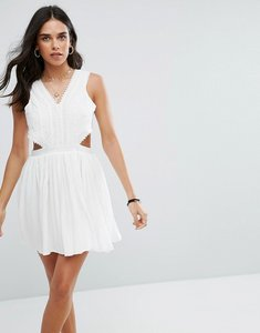 Read more about Raga everdeen cut out mini dress - white