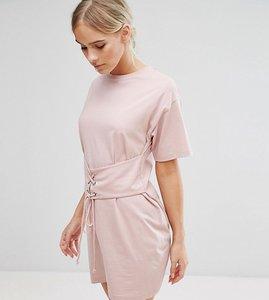 Read more about Asos petite corset detail t-shirt dress - nude