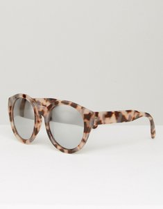 Read more about Asos chunky round sunglasses in tort with flash lens - tort