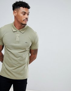 Read more about Lacoste slim fit logo polo shirt in khaki - pr6