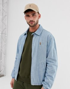 Read more about Polo ralph lauren bayport multi player logo lightweight chambray harrington jacket in light wash