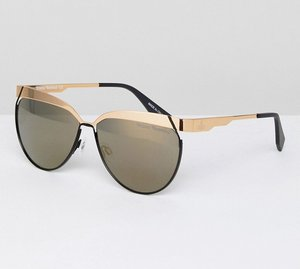 Read more about Vivienne westwood cat eye sunglasses - gold grey fl gold