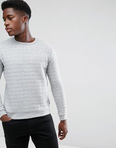 Read more about French connection quilted sweat jumper - grey