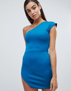 Read more about Missguided scuba one shoulder dress - green