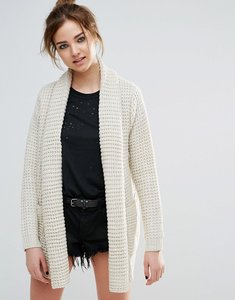 Read more about John jenn manon waffle knit cardigan - 213 white sand