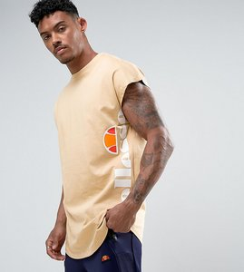 Read more about Ellesse t-shirt with cap sleeve - stone