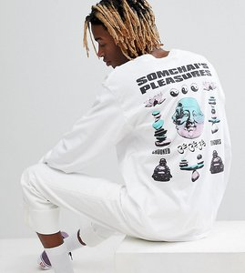 Read more about Crooked tongues long sleeve t-shirt in white with back print - white