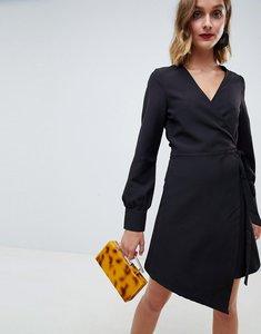 Read more about Unique 21 asymmetric detail dress - black