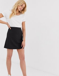 Read more about Asos design tall tailored a-line mini skirt - black