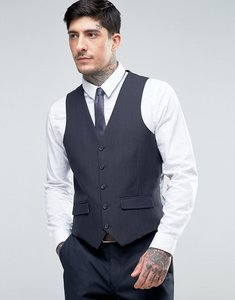 Read more about Harry brown slim fit micro dot waistcoat - navy