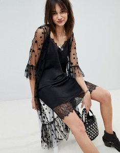 Read more about Vero moda star mesh kimono jacket - black