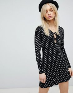 Read more about Nobody s child tie front long sleeved dress - black