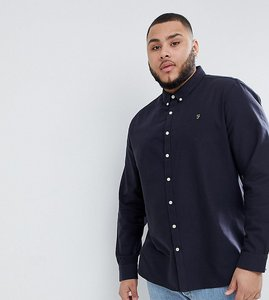 Read more about Farah brewer slim fit shirt oxford shirt in navy - navy