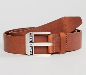 Read more about Diesel leather belt in tan - tan