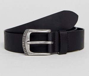 Read more about Levis leather belt with logo buckle - black