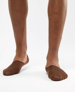 Read more about Asos design invisible liner socks in dark skintone - brown