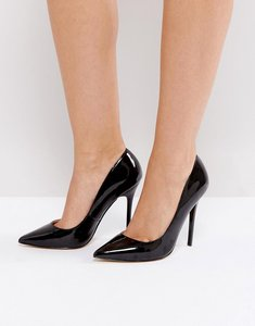 Read more about Office patent pointed court shoes - black